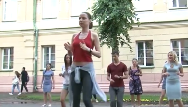 Танцы на асфальте — новое явление в культурной жизни Могилева