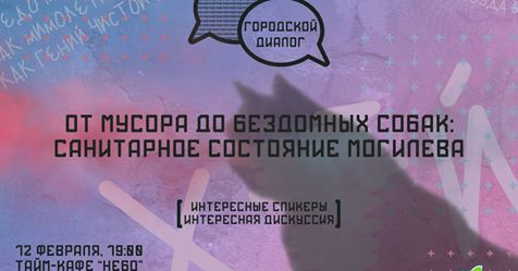 Городской диалог: «От мусора до бездомных собак: санитарное состояние Могилева».